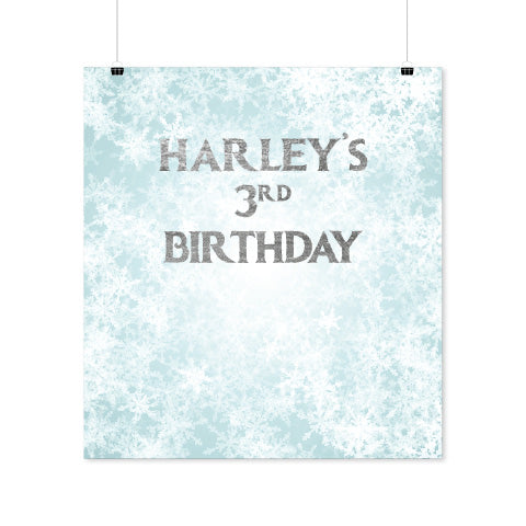 Personalised Downloadable Frozen Backdrop
