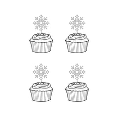 Frozen Themed Snowflake Cupcake Toppers