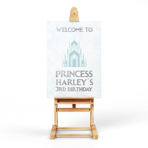 Personalised Downloadable A4/A3 Frozen Welcome Poster