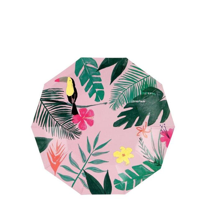 Small Tropical Pink Plates