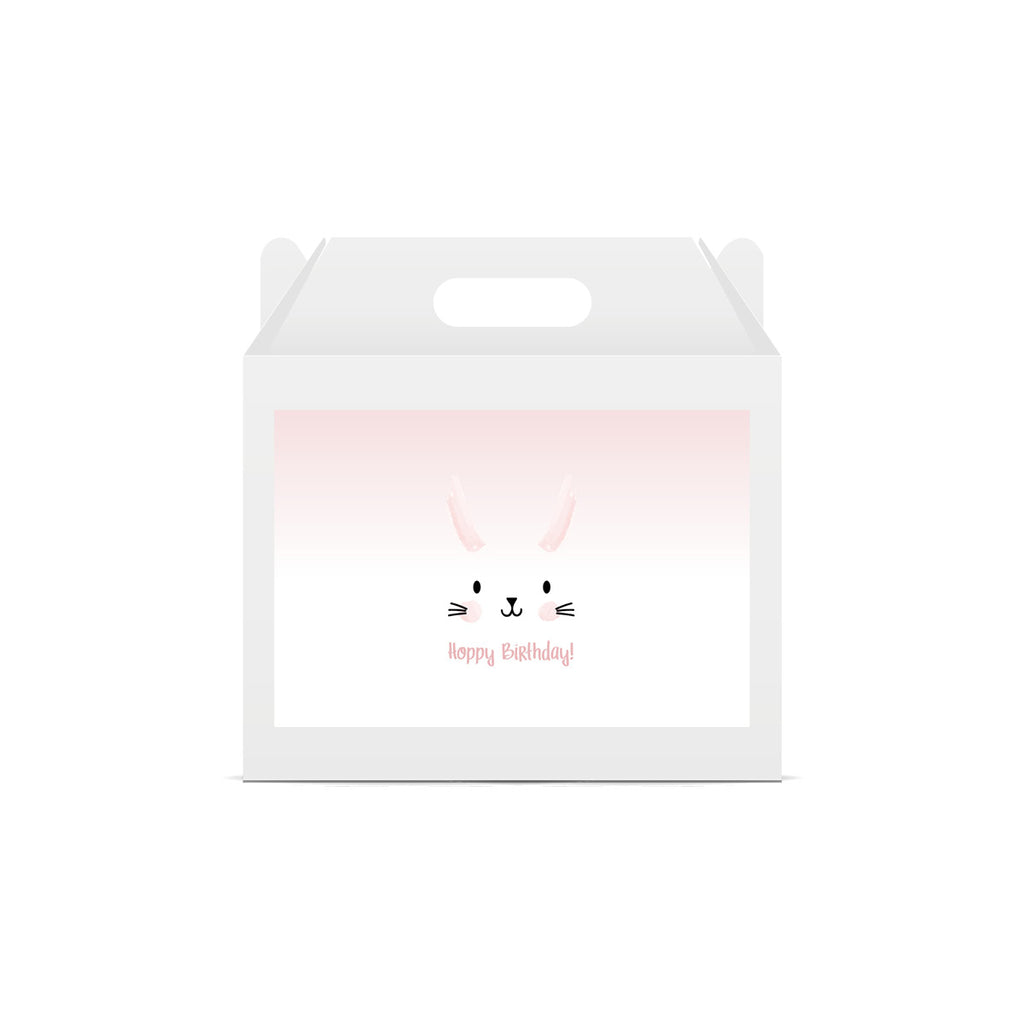 Bunny 'Hoppy Birthday' Lunch Box Sticker