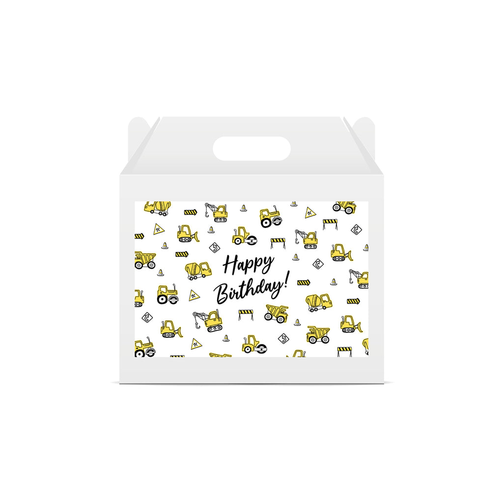 Construction Lunch Box Stickers