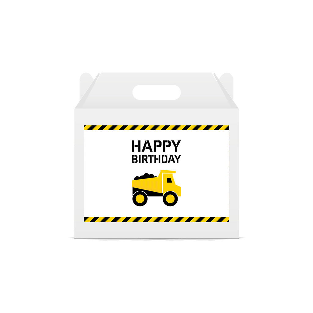 Construction 'Happy Birthday' Lunch Box Stickers