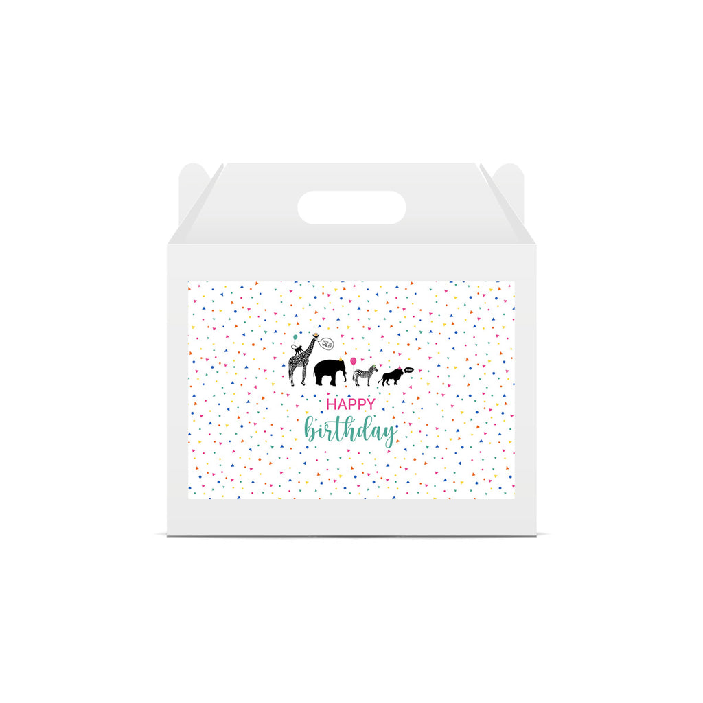 Party Animal 'Happy Birthday' Lunch Box Stickers