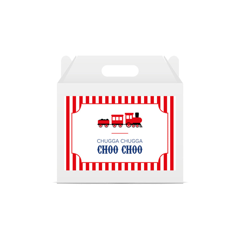 Train Themed Lunch Box Stickers