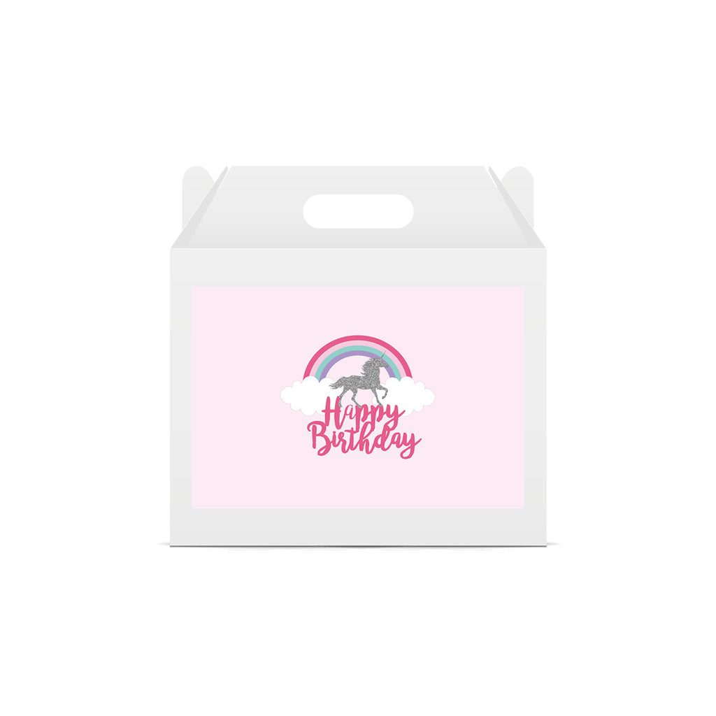 Unicorn and Rainbow Lunch Box Stickers