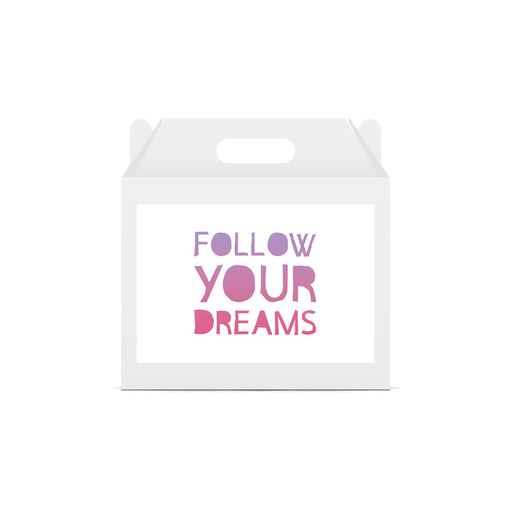 Unicorn 'Follow You Dreams' Lunch Box Stickers