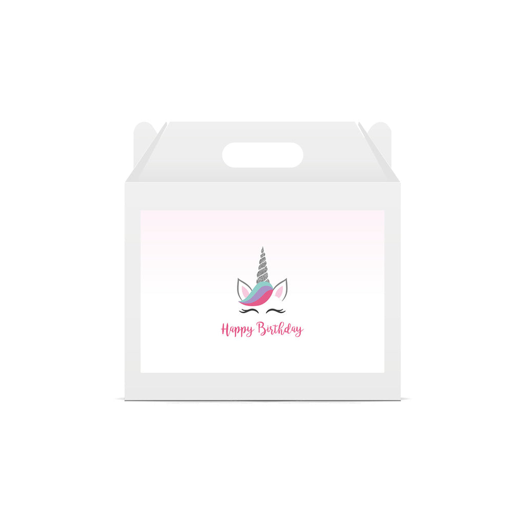 Unicorn 'Happy Birthday' Lunch Box Stickers