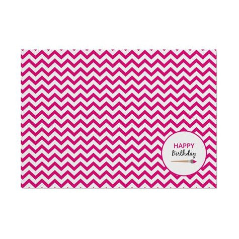 Pink Chevron Arty Placemat