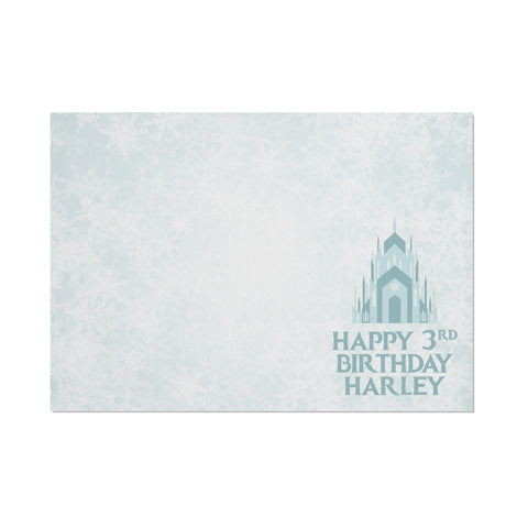 Personalised Frozen Castle Themed Placemat