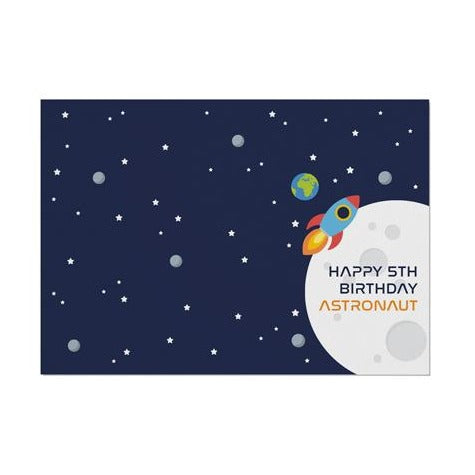 Space Personalised Age Placemat