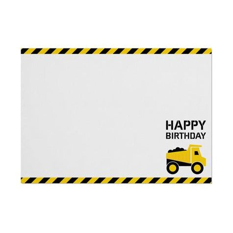 Construction 'Happy Birthday' Placemat