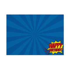 Superhero 'Happy Birthday' Placemat