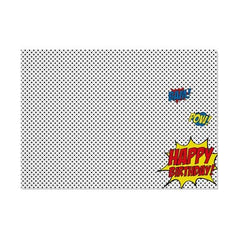 Superhero 'Pop Art' Placemat