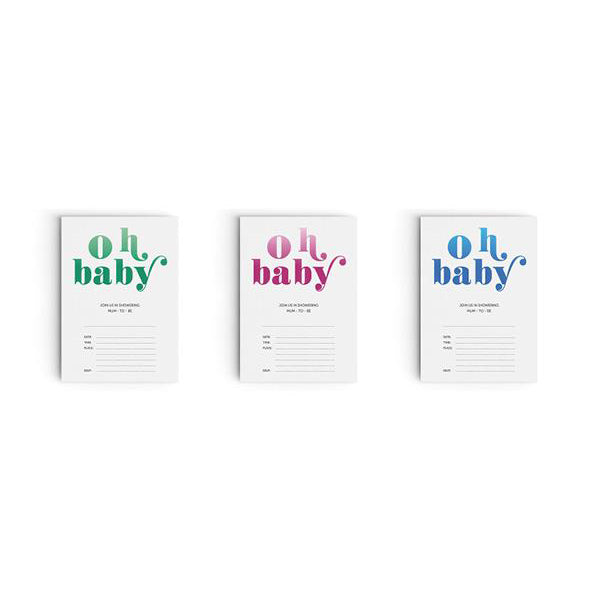 Baby Shower 'Oh Baby' Invitations