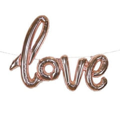Rose gold 'Love' foil balloon