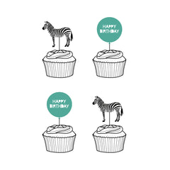 Party Animal 'Happy Birthday' Cupcake Toppers