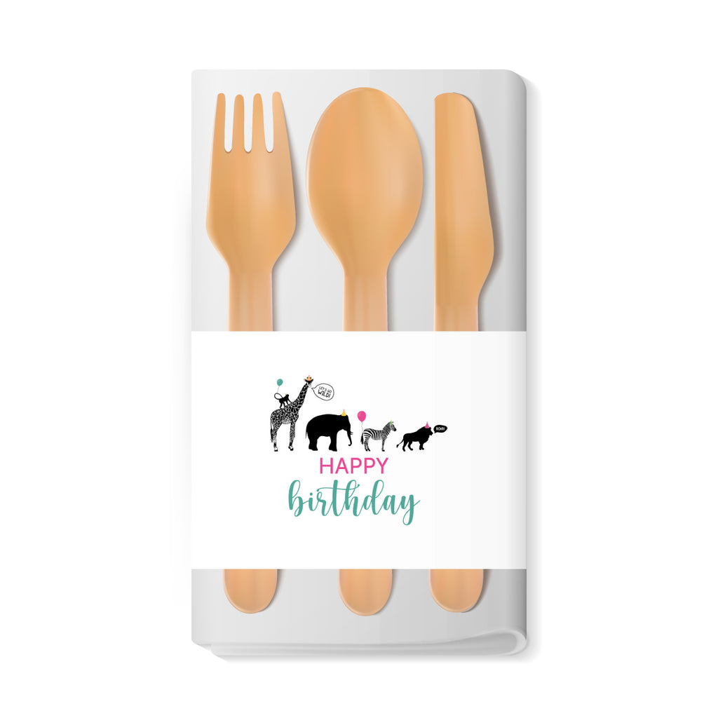 Party Animal Themed Napkin Wraps