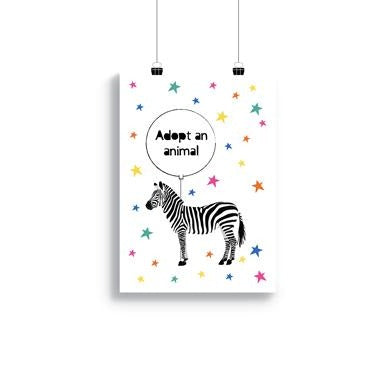 Downloadable A4/A3 Party Animal 'Adopt An Animal' Poster