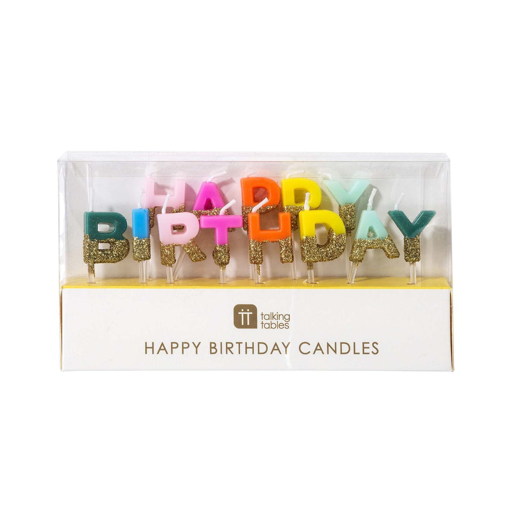 Coloured 'Happy Birthday' Candles