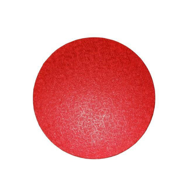 Red Round Cake Board