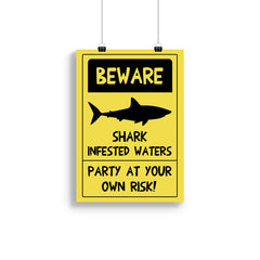 Downloadable A4/A3 Shark Party Themed Poster