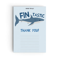 Shark Party Thank You Cards