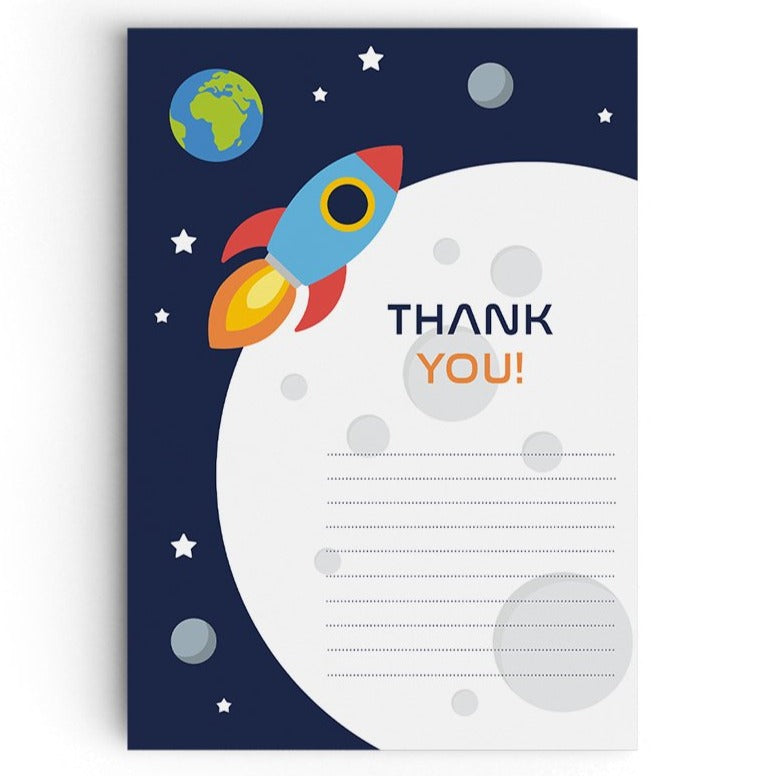 Space Themed Thank You Cards