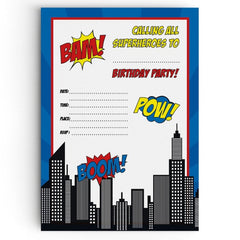 Superhero Themed Party Invitations