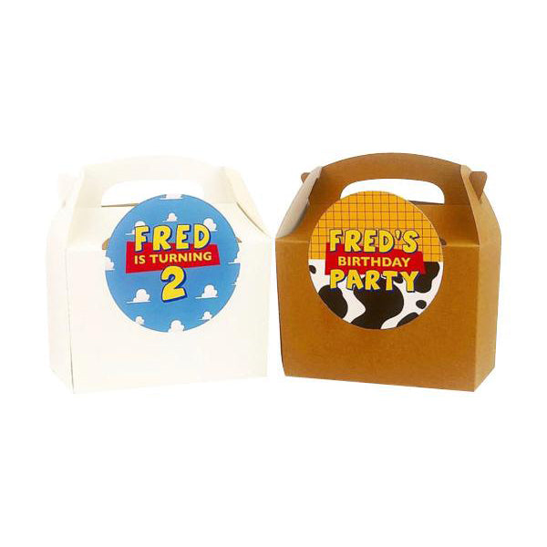 Personalised Toy Story Themed Lunch Box Stickers