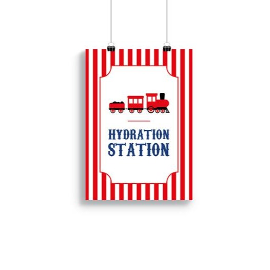 Downloadable A4/A3 Train 'Hydration Station' Poster