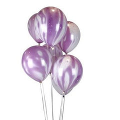 "11"" Purple Marbled Balloons"