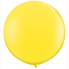 Yellow 3ft round latex balloon