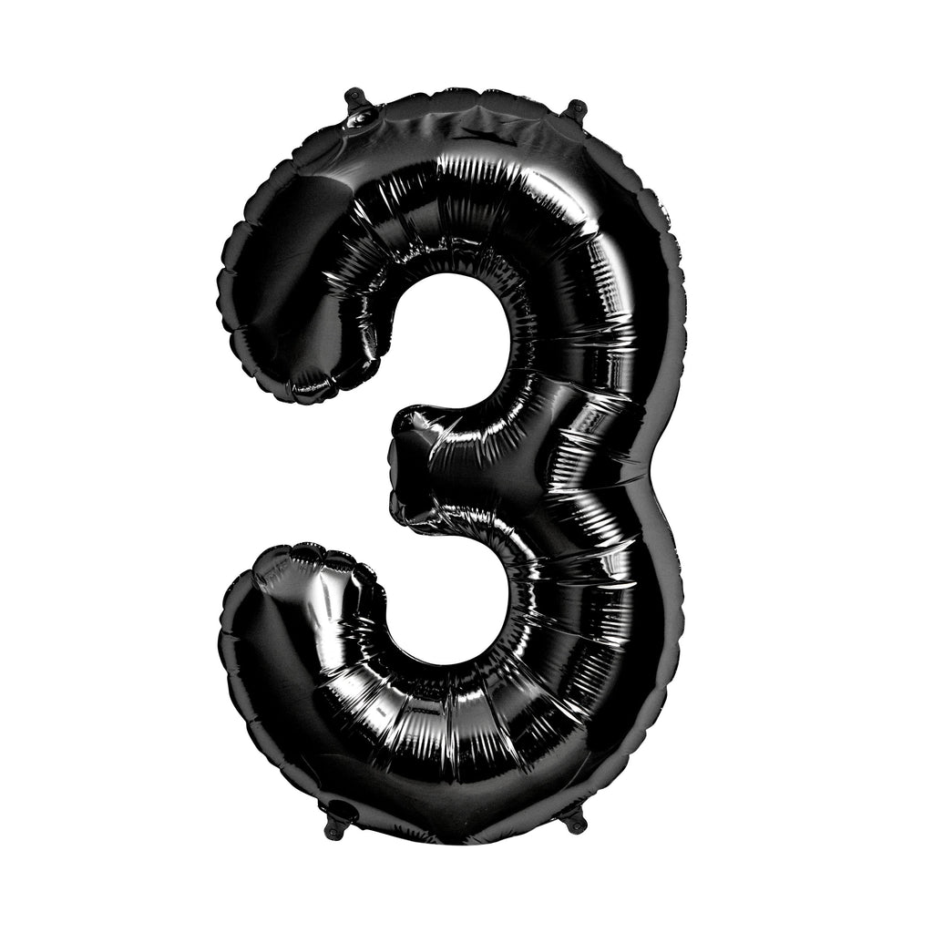 "34"" Black Foil Number Balloon"