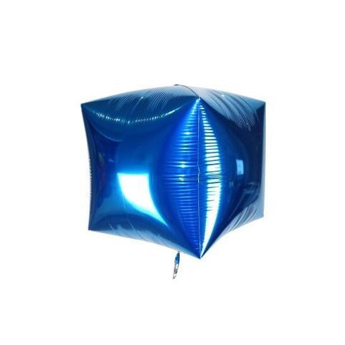 "17"" Blue Foil Cube Balloon"
