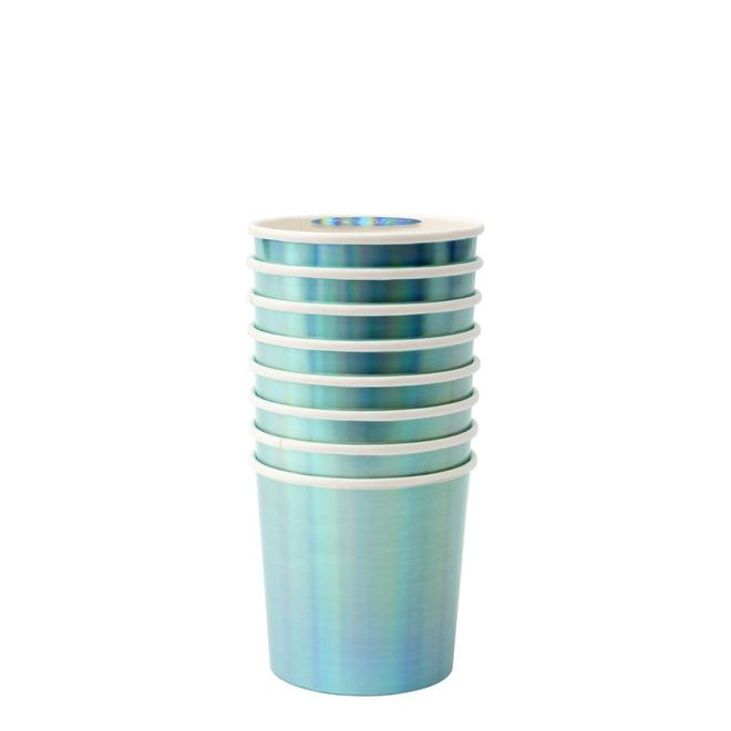 Blue Holographic Tumbler Cups