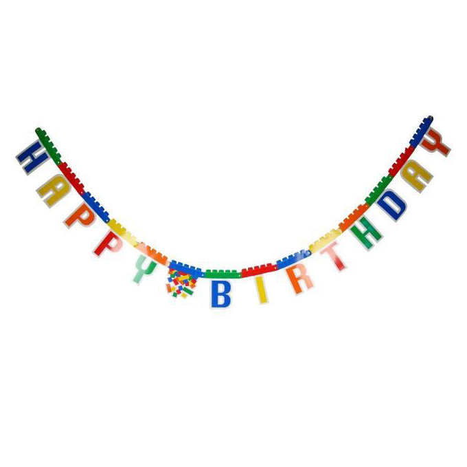 Brick Happy Birthday Bunting