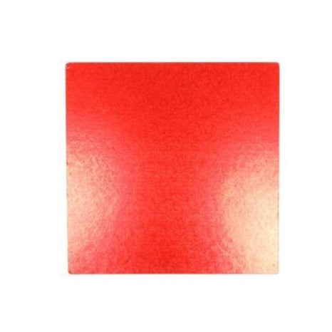 Square Red Cake Board