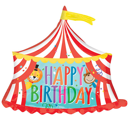 Circus Tent 'Happy Birthday' Foil Balloon