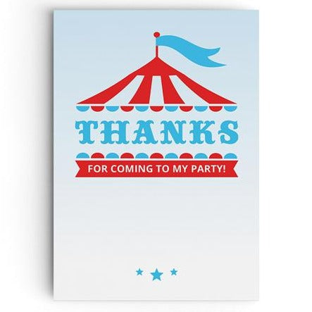 Circus Tent Thank You Cards