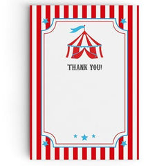 Circus Thank You Cards