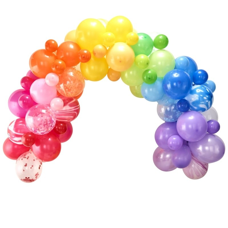 colourful rainbow BALLOON ARCH KIT