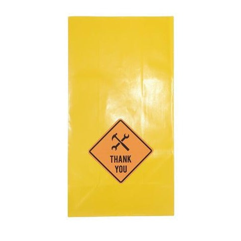 Yellow Paper Party Bags With Thank You Stickers