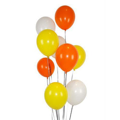 "11"" Yellow, Orange and White Balloon Pack"