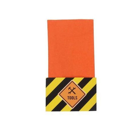 Orange Paper Napkins with Optional Napkin Wraps