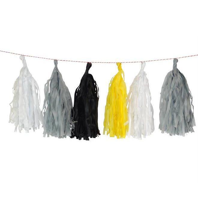 Tassel Garland in Construction Colours