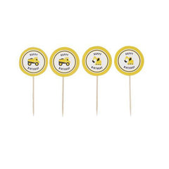 'Happy Birthday' Construction Cupcake Toppers