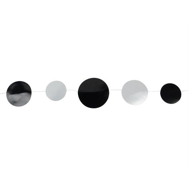 Black and Silver Dot Garland
