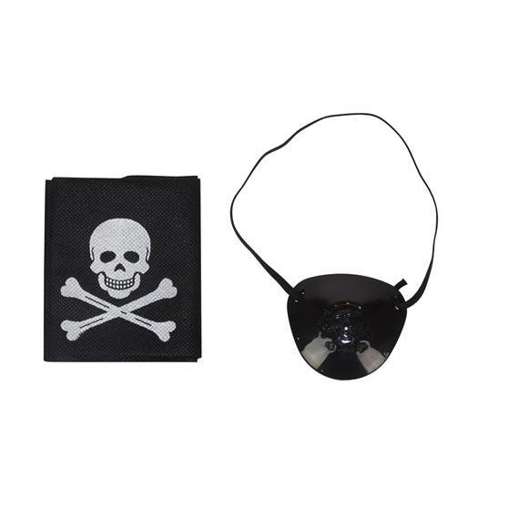 Pirate Eye Patch and Bandanna Set