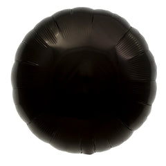 "18"" Round Foil Black Balloon"